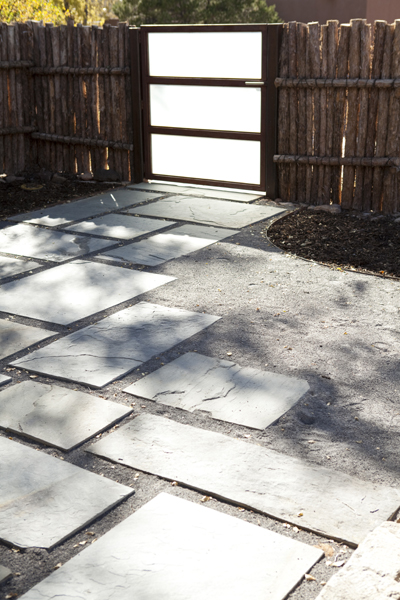 Rectangular Bluestone patio