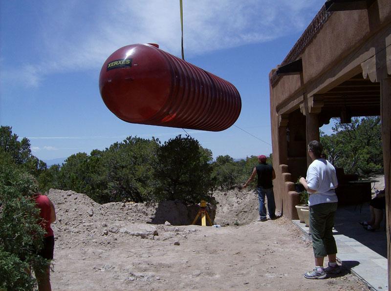 10,000 gallon cistern