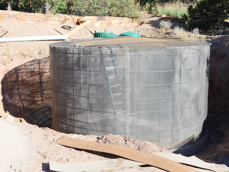 Water storage tank under construction