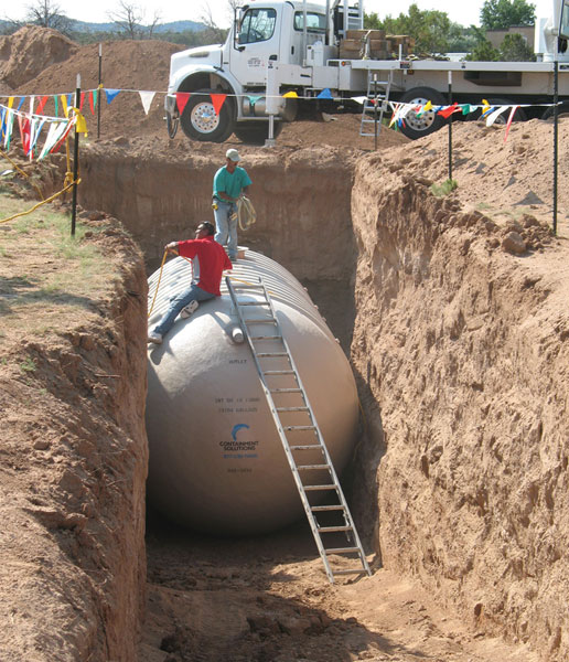 15,000 gallon cistern
